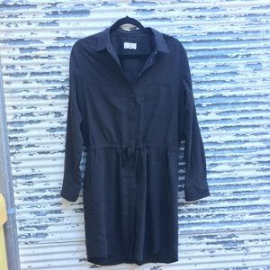 Lou & Gray Shirt Dress Black Size Medium.