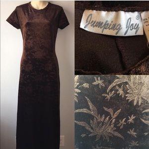 1990s velvet maxi dress