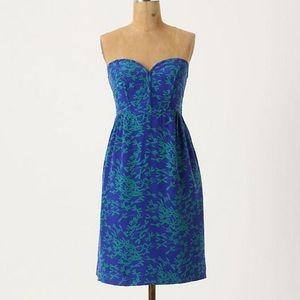 Anthropologie Silken Stitches Dress
