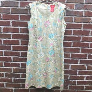 Oscar de la Renta Floral Sheath Dress 8