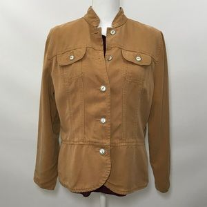Coldwater Creek Tan Light Button-Up Jacket