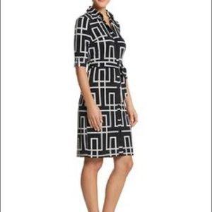 WHBM GeoPrint Dress