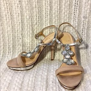 Kate Spade Nude/Silver Prom Homecoming Heels