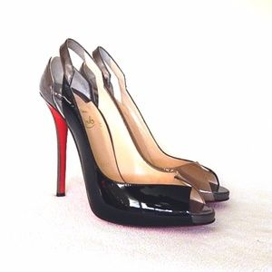 CHRISTIAN LOUBOUTIN Technicatina Peep Toe Pumps
