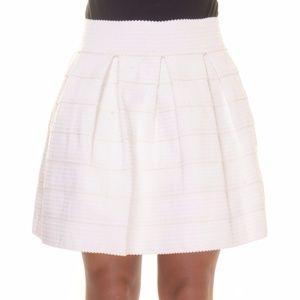 Womens FSR Juniors Textured Pleated Cupcake Skirt