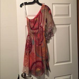 One sleeve dress.