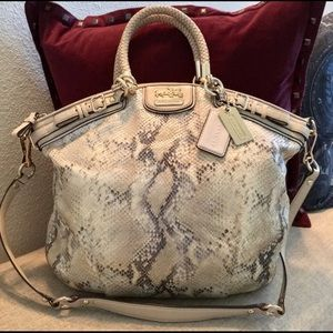 *SALE* Coach Embossed Python Satchel *NO OFFERS*