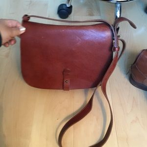 Lucky Brand Leather Saddle bag
