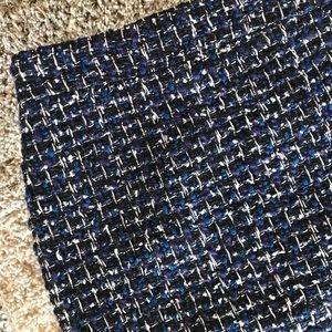 Like New J. Crew Pencil Skirt in Blue Tweed