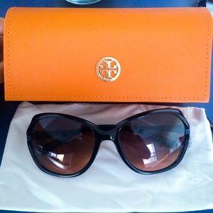Tory Burch Sunglasses black grey orange fade