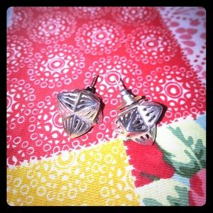 Silver chunky earrings