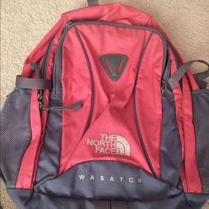 North Face Back Pack Salmon Wasatch