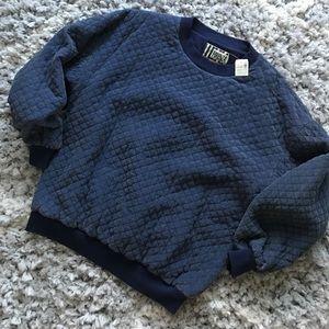 NWT Vintage silk quilted oversized sweatshirt