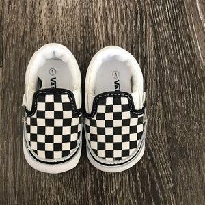 Vans slip on shoe size 1 newborn