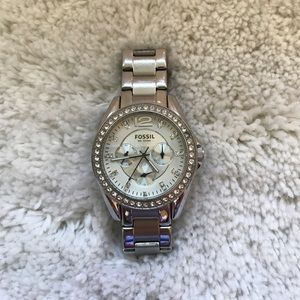 Fossil Watch with Crystal Accents
