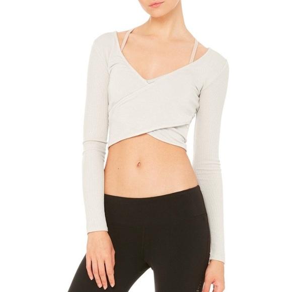 6bd5f451af4fe ALO Yoga Tops | Amelia Long Sleeve Crop | Poshmark
