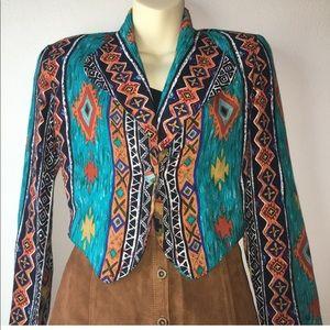 1980s southwestern blazer
