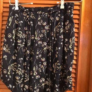 NWT Ann Taylor LOFT navy and floral skirt