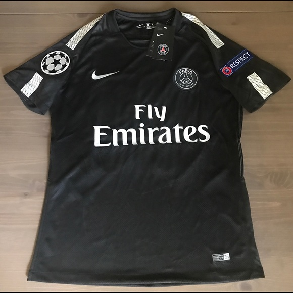 timeless design 2258c 816fa PSG black Neymar Jr. #10 soccer Nike jersey men NWT