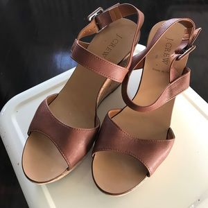 J. Crew Shoes - J. Crew cork and leather wedge sandals