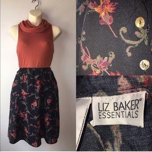 1990s floral skirt