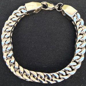 Men's 8mm Franco Bracelet 14k Gold Stainless Steel