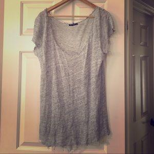 Brandy Melville Grey Tee Shirt One Size