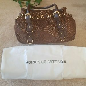 Brown and Gold Genuine Leather  Purse