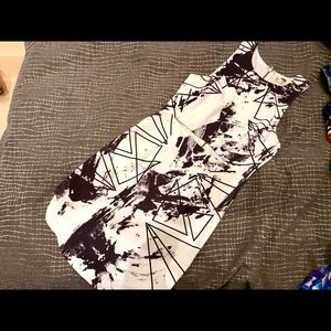 LF Rumor Black and White Dress