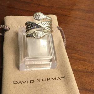 David Yurman Renaissance Crossover Ring w/Diamonds