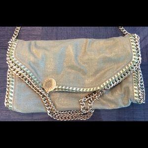 Stella McCartney Green and Gold Chain Bag