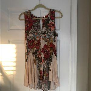 Free people floral flowy dress
