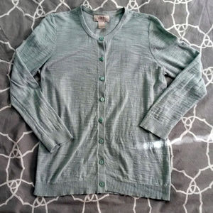 Ann Taylor Loft seafoam green 3/4 sleeve cardigan