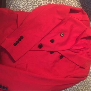 Red express blazer