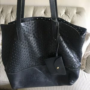 J.Crew Downing Leather Tote