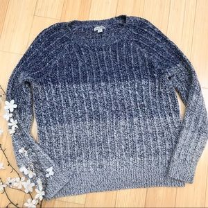 LUCKY BRAND blue hombre sweater, M.