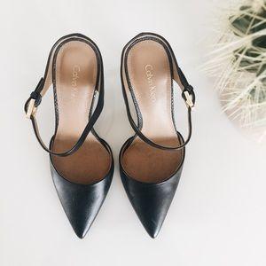 calvin klein pointed black heels 6