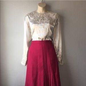 1980s dress blouse