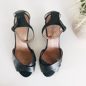 jeffrey campbell black wedge sandals 6