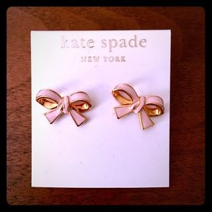 Kate Spade Pink and Gold Bow Earrings 🎀