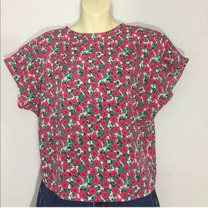 1980s floral top