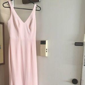 Vera wang blush bridesmaids dress