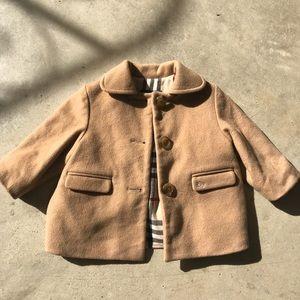 Girl's Burberry Wool Coat