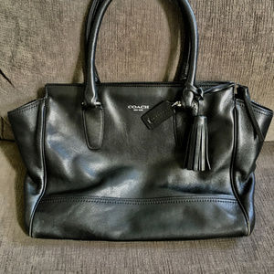 COACH Black Legacy Candace Leather Shoulder Bag