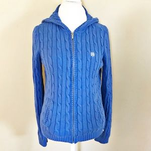 Chaps Zip Up Sweater