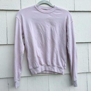 Brandy Melville John Galt Light Pink Sweatshirt
