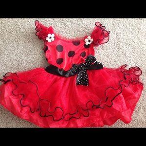 Other - New Ladybug 3 piece dress, Halloween costume 2T