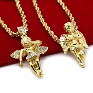 14K Gold Plated Angel Combo Set