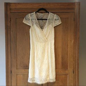 Milly Ivory Lace Flutter Dress