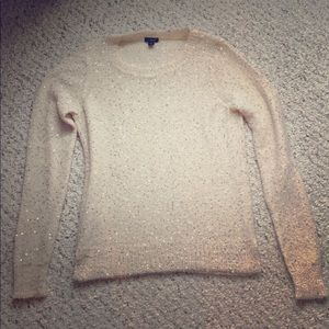 Sparkly beautiful Ann Taylor Light Sweater